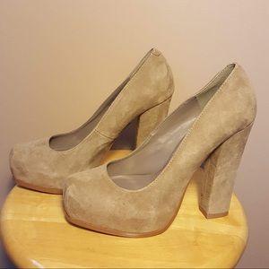 Steve Madden suede platform chunky heel shoes 7M